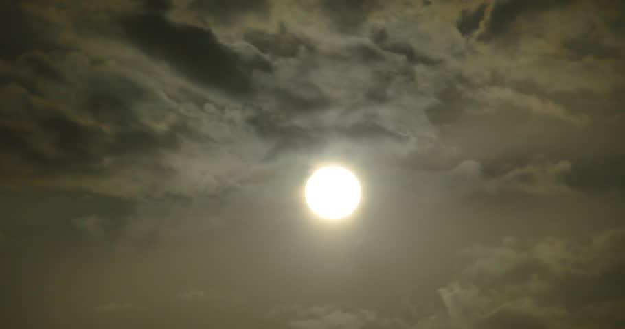 4k Panoramic of dim altocumulus clouds smoke slowly flying in cloudy sun ray sky,high cumulus cloud,mackerel sky.dusk sunset & dawn sunrise. gh2_10996_4k