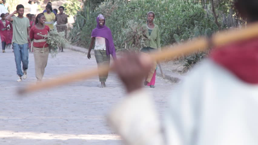 ETHIOPIA - CIRCA -2011: Farmer Lalibela, Ethiopia, Rural Village, Africa