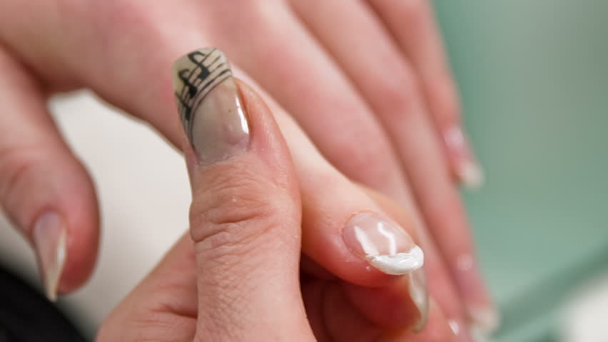 White Manicured Nails Nails With White Tip