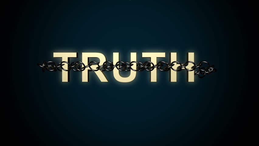Animated concept of Truth text breaking free from constraints
