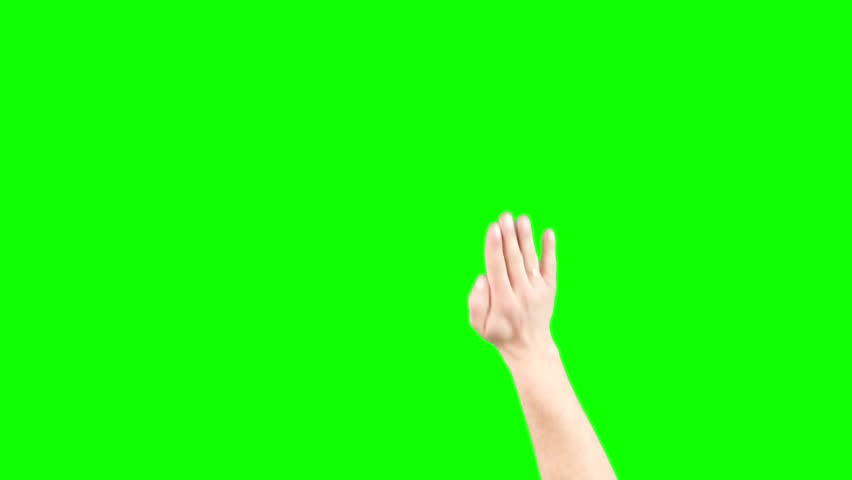 Hand Slapping Screen On Green Screen Chroma Key (Good For Web Designers, Web Developers And Youtubers)