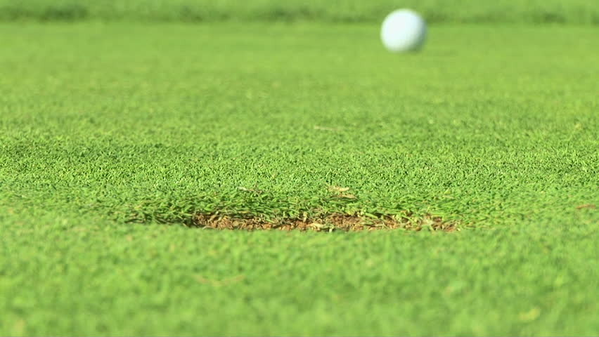 Putting green with golf ball - HD stock video clip