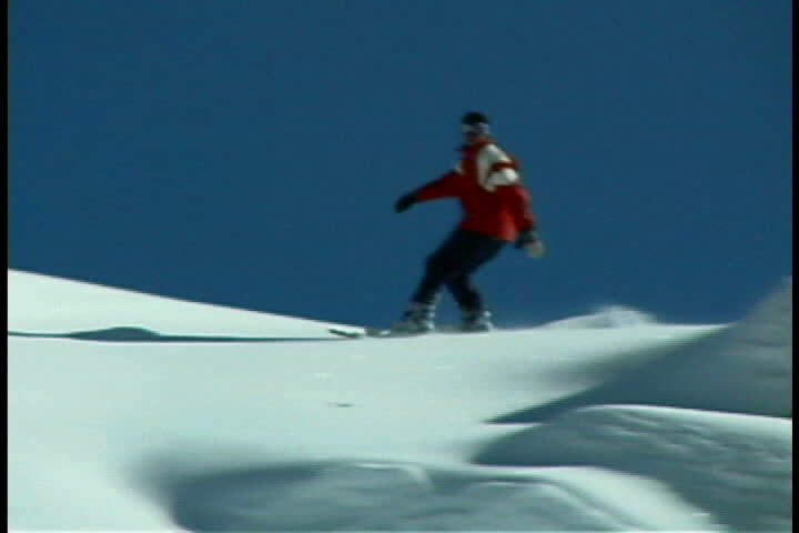 Snowboarder - SD stock video clip