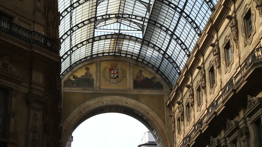 Vittorio Emanuele Gallery, Milan - HD stock video clip