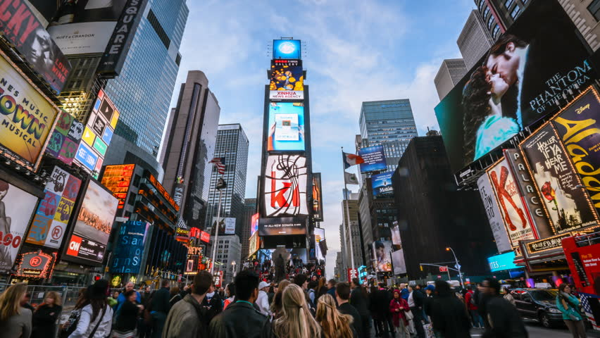 Timelapse of Times Square, New York, USA. In 4K.