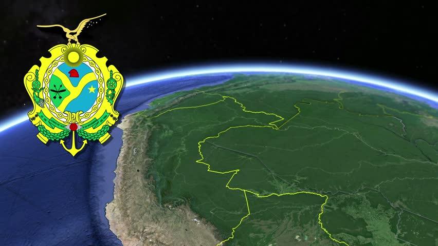 Amazonas white Coat of arms animation map States of Brazil Amazonas white Coat of arms animation map