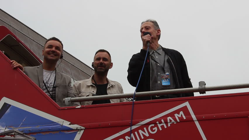 Peter Tatchell speaking during Gay Pride in Birmingham 2015. Tatchell is an Australian-born British political campaigner best known for his work with LGBT social movements.