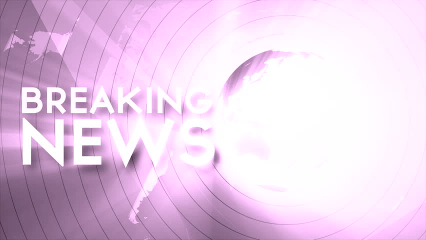 Breaking news TV screen