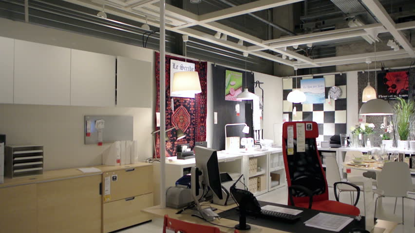 Paris france circa 2015 ikea furniture store and customers browsing throu - Ikea online shop france ...