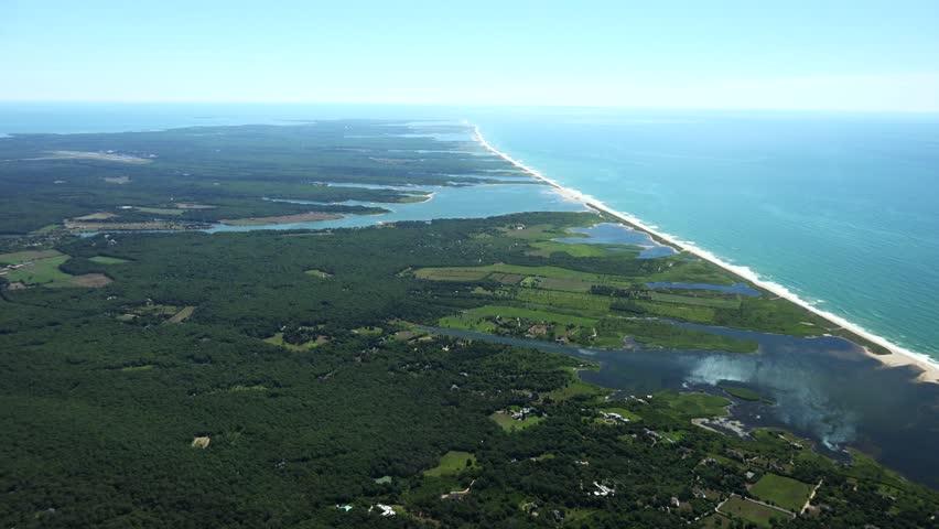 Martha's Vineyard S Coast, 4k aerials. - 4K stock video clip