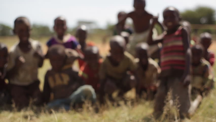 KENYA - CIRCA JULY 2013 - Children Wave Hello In Samburu ...