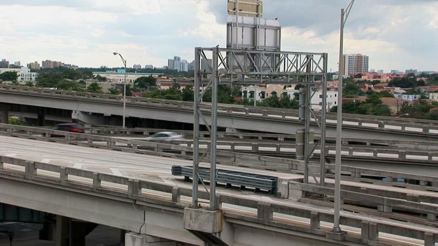 I 95 Expressway in Miami - HD stock video clip