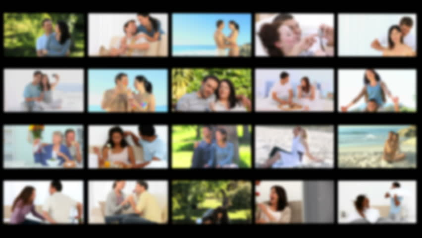 Montage of cute couples spending special time together  - HD stock video clip