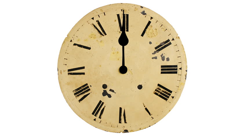 Wall Clock Loop Animation Of A Wood Wall Clock Running An