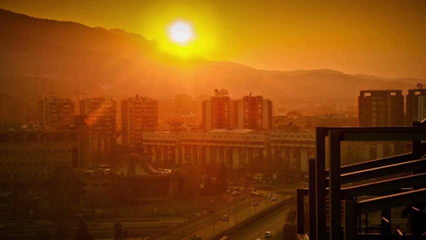Urban sunset timelapse Full HD 1920x1080 29.97 fps