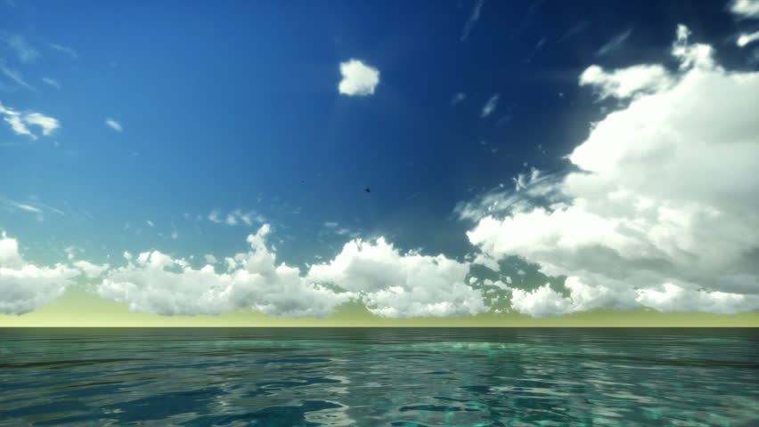 Time Lapse Clouds over Tropical Ocean
