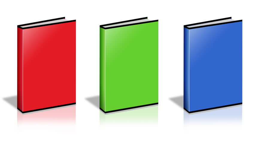 Conceptual video choose color of the Book. ENDLESS LOOP - HD stock video clip