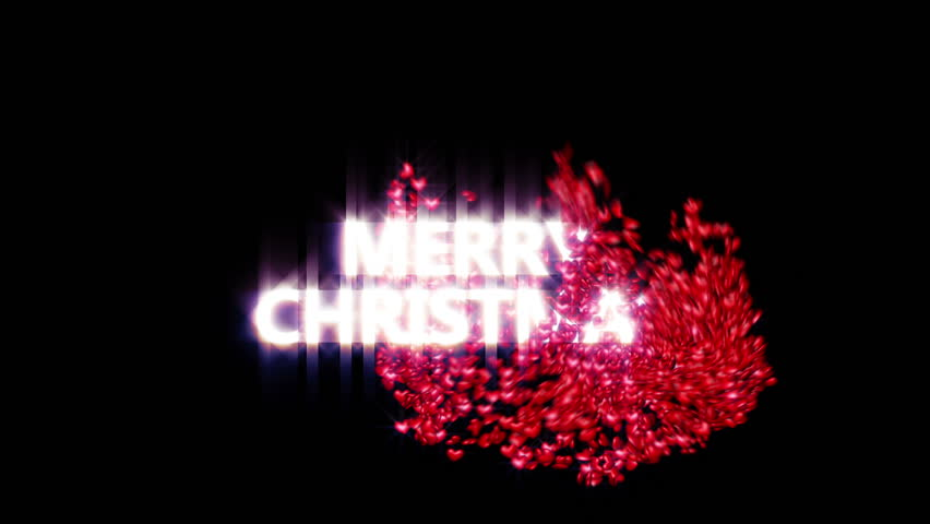 A fun Christmas clip of some Merry Christmas text sparkling and then being swarmed by lots of red hearts. Comes with the Alpha Matte.