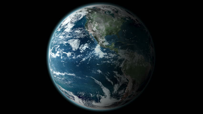Realistic Planet Earth Like Rotating Around Its Axis ...