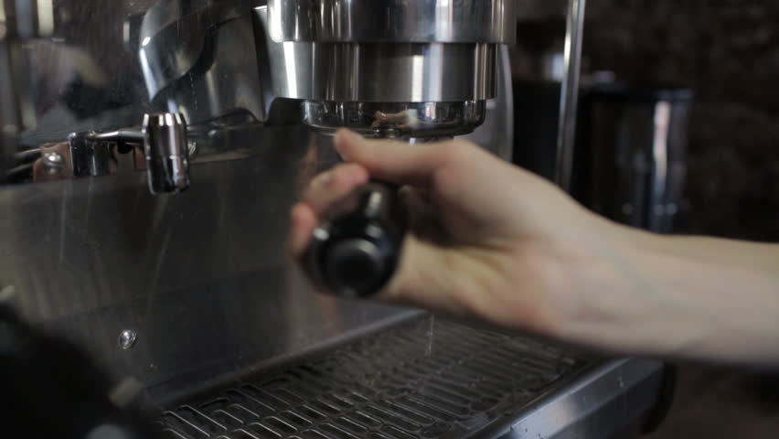 Cleaning Holder of the coffee machine, close-up. - HD stock footage clip