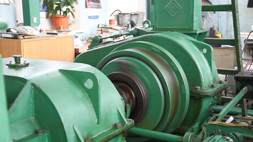 Industrial winch that used for train coupling test  - HD stock footage clip