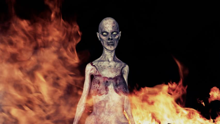 Zombie fire this video features zombies walking forward - Raging demon symbol ...