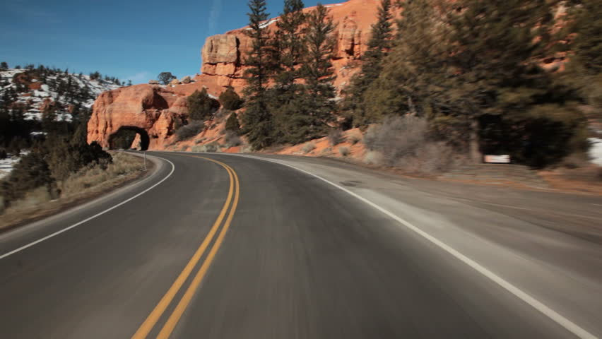 Open Road POV Stock Footage Video 1256575 - Shutterstock