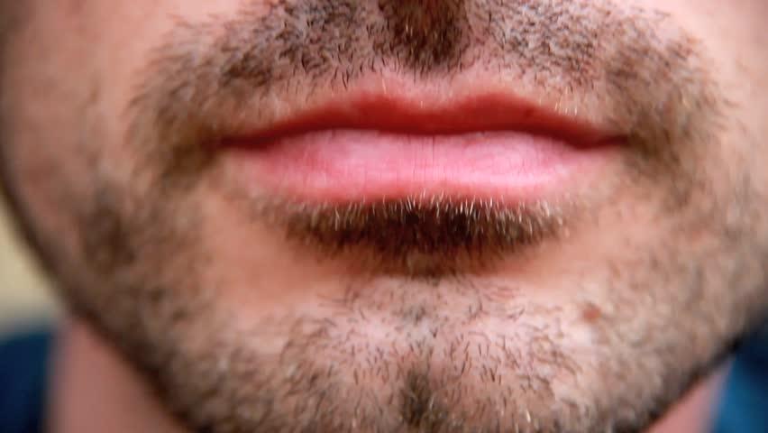 Man talking - Mouth detail