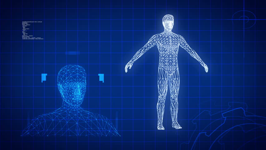 Blue Medical Science Futuristic Background Stock Footage