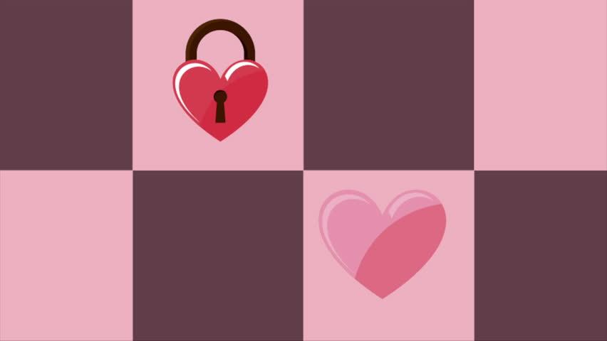 Happy valentines day design, Video Animation, HD1080 - HD stock video clip