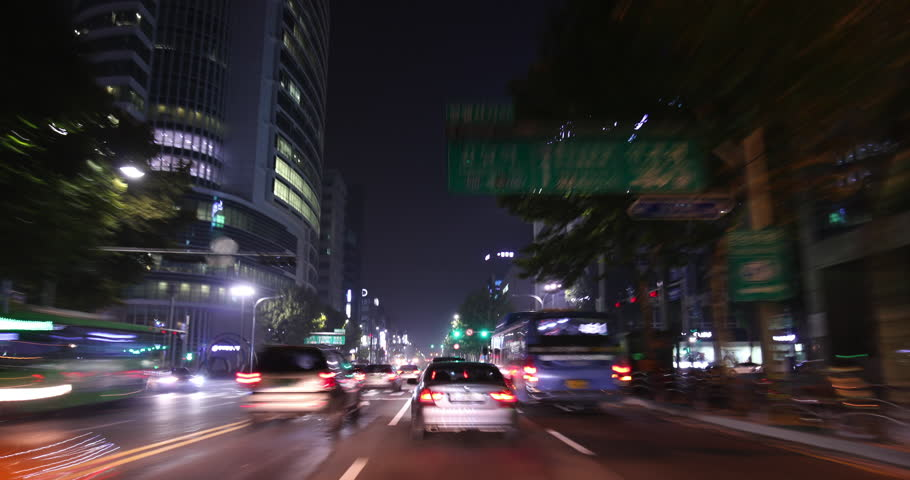 A frenetic blast through the streets of GangNam in Seoul October 2015
