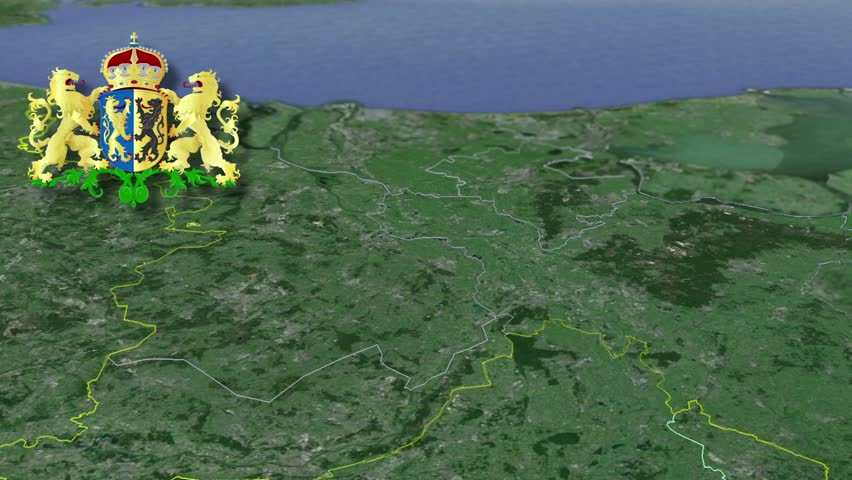 Gelderland whit Coat of arms animation map Provinces of the Netherlands
