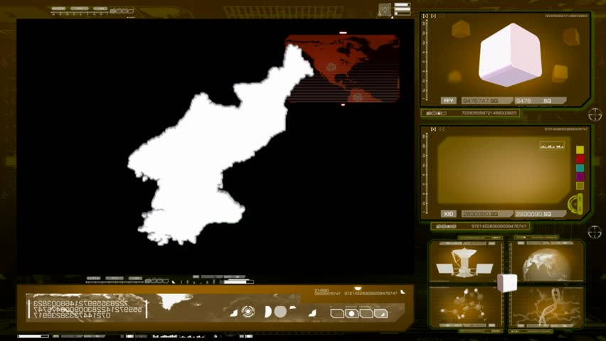 North Korea scanned by software - HD stock footage clip