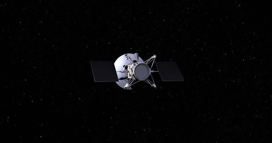 Flyby Of Magellan Spacecraft On Its Final Approach Toward ...