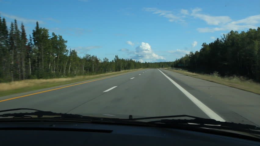 Summer Highway Driving On The Interstate Highway Heading