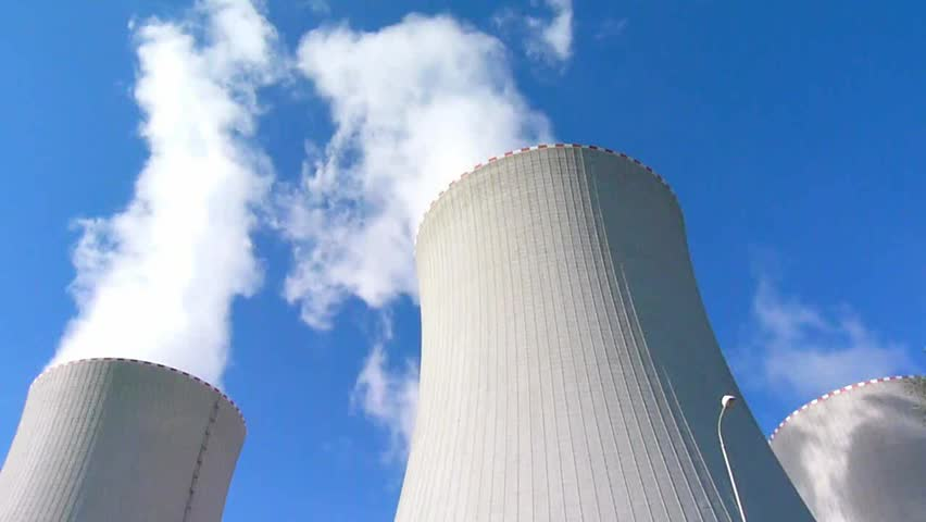 nuclear power plant  - HD stock footage clip