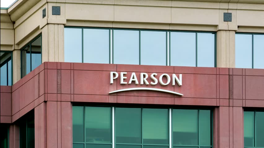 BLOOMINGTON, MN, USA, August 13, 2015. Pearson PLC office building. Pearson PLC is the largest education company and the largest book publisher in the world.