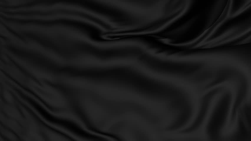 A background texture of soft rippled black fabric textile material,seamless looping
