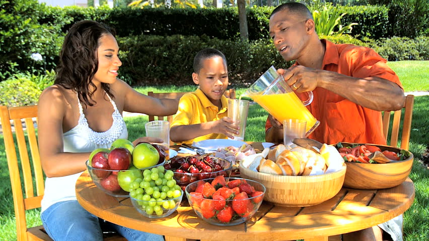 African American Family Healthy Eating Stock Footage Video ...