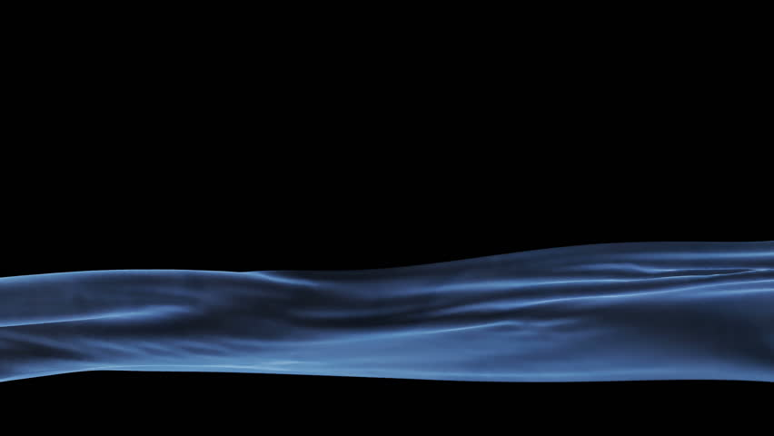 Blue Velvet Cloth Waving Lower Third, seamless loop