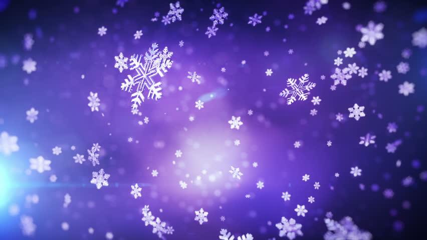 Falling snowflakes. Loop