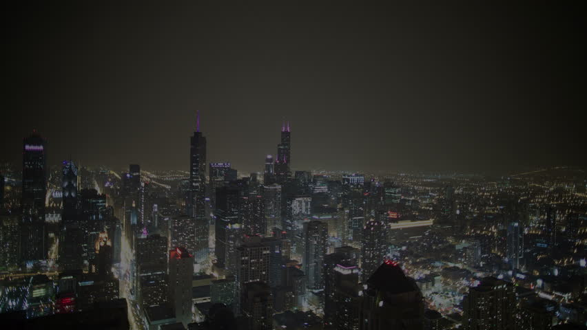 Chicago timelapse during a lightning storm