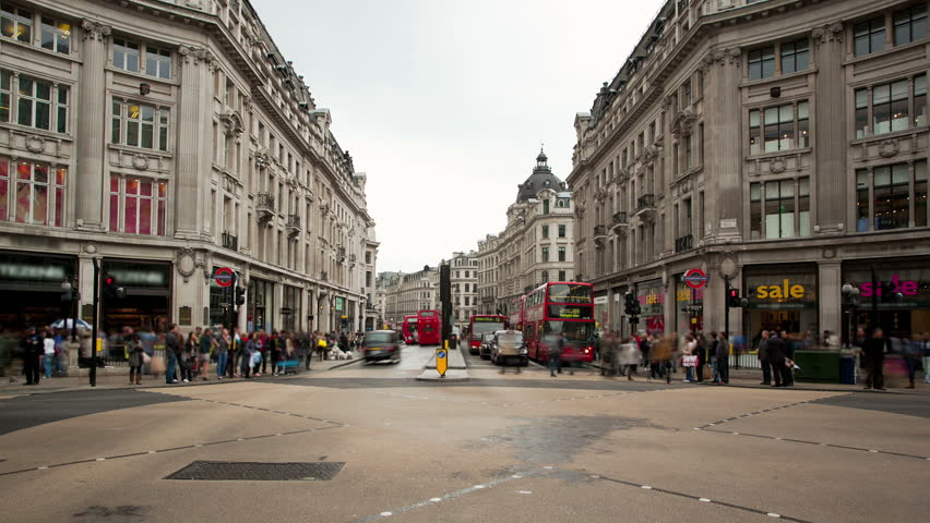 Streets of London time lapse