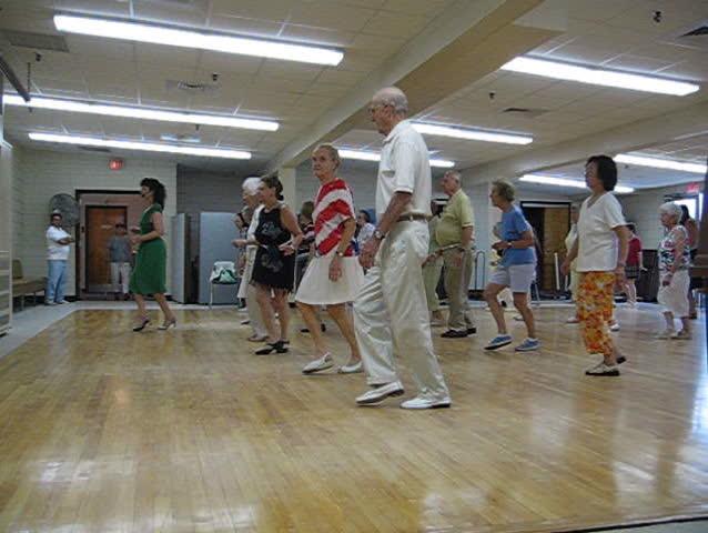 seniors dancing - SD stock footage clip