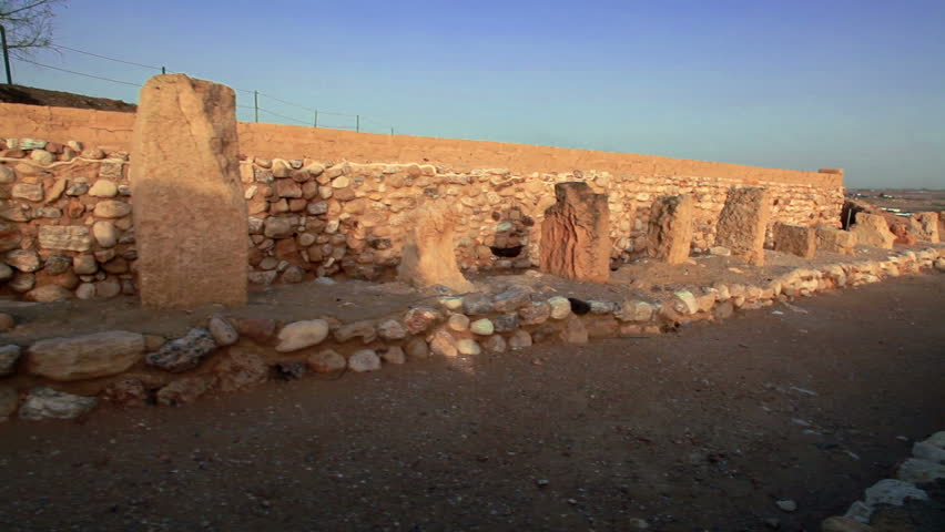 the biblical city at Tel Be'er Sheva National Park in Israel. - HD stock footage clip
