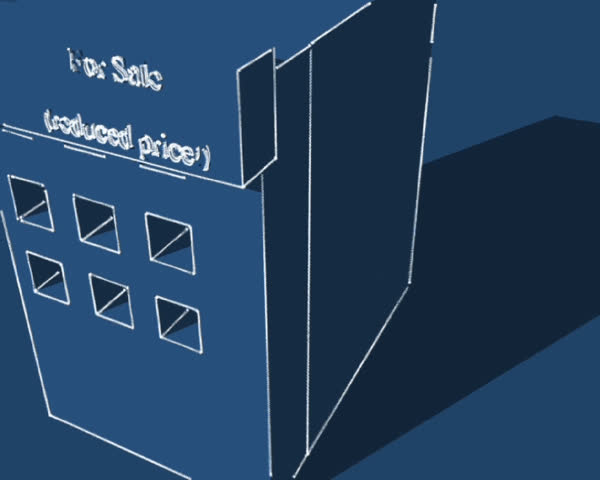 3d blueprint real estate design - SD stock video clip
