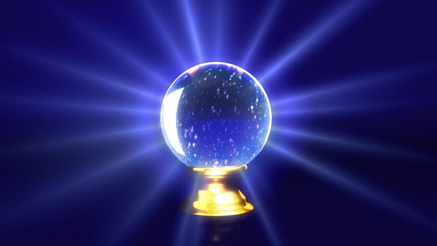 snow inside the crystal ball