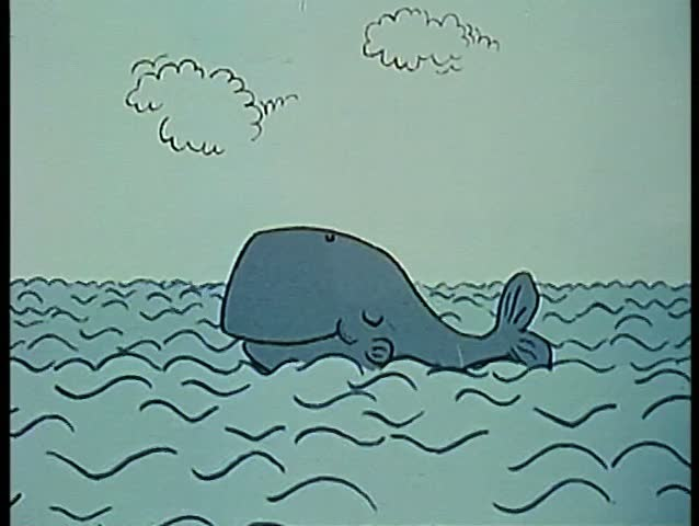 Whale daydreaming of his sweetheart - SD stock video clip