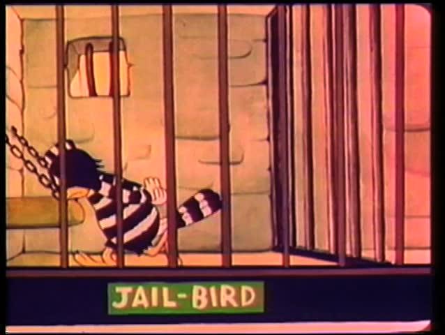 Cartoon jail bird