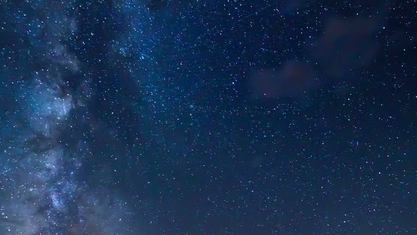 Time Lapse of Night Sky and Milky Way Galaxy